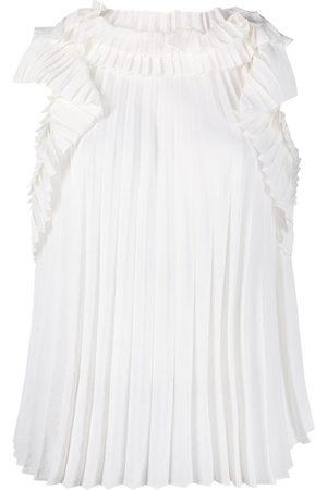 P.A.R.O.S.H. Ruffled pleated blouse