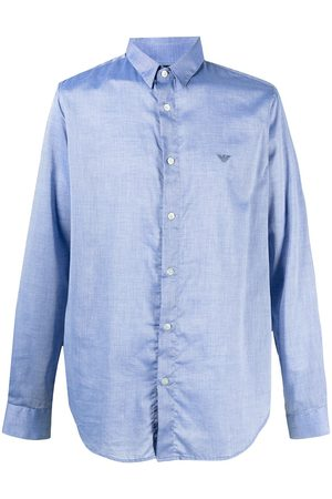 Emporio Armani Logo-patch button-up shirt