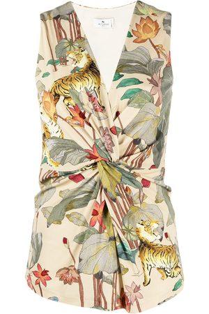 Etro Knotted-waist blouse - Neutrals