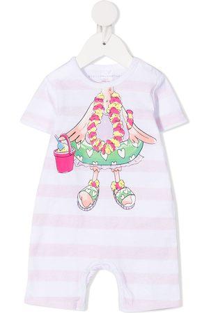 Stella McCartney Kids Holiday flamingo-print romper