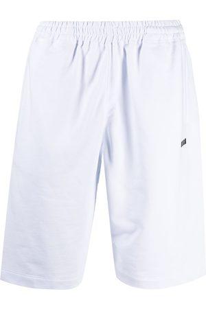 MSGM Logo-print cotton shorts