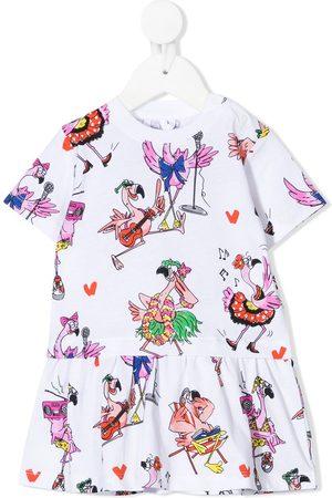 Stella McCartney Kids Flamingo Party cotton dress