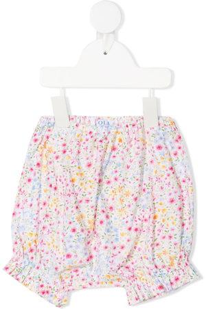SIOLA Floral-print shorts - Neutrals