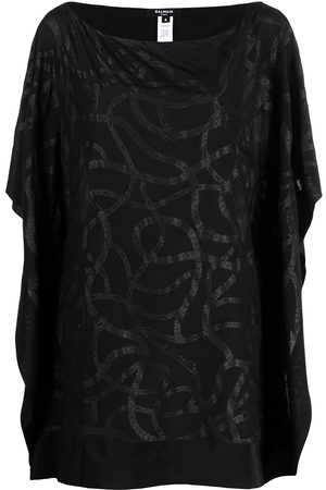Balmain Women Beach Dresses - Logo chain print kaftan top