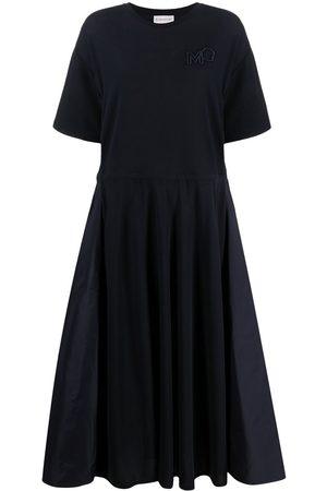 Moncler Panelled drawstring-waist midi dress