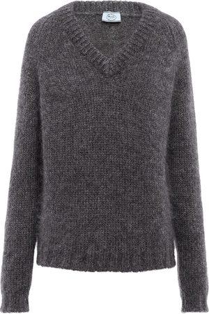 Prada V-neck wool jumper - Grey