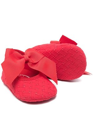 MONNALISA Bow-detail headband and shoes set