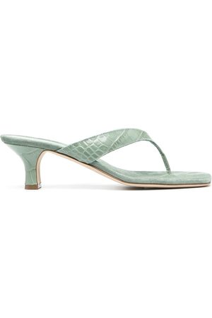 Paris Texas Crocodile-effect flip-flop sandals