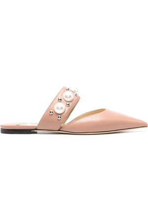 Jimmy Choo Embellished-strap pointed-toe mules