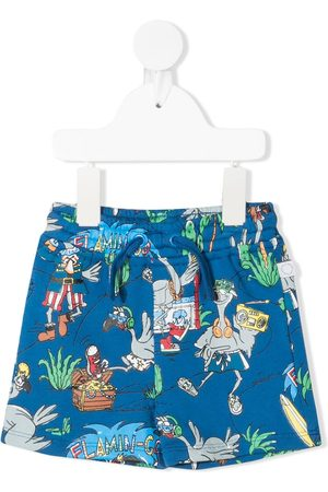 Stella McCartney Kids Flamingo-print shorts