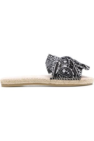 Manebi Bandana raffia sandals