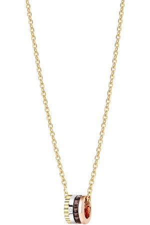 Boucheron 18kt yellow, rose and white Quatre Mini Ring diamond necklace