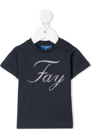 Fay Kids Logo-print short-sleeved T-shirt