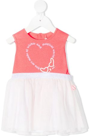 Billieblush Slogan-print tulle short dress