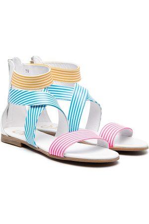 Gallucci Kids TEEN striped strappy sandals