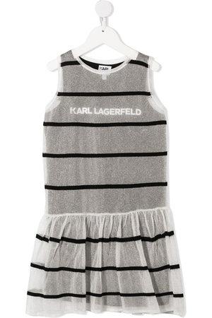 Karl Lagerfeld Kids Striped jersey-knit layered dress