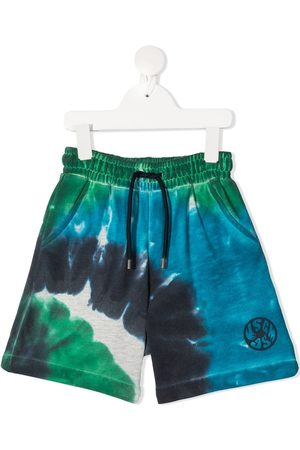 Msgm Tie-dye print cotton shorts