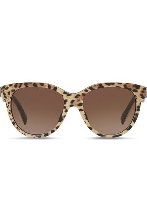 Dolce & Gabbana Girls Sunglasses - Leopard-print cat-eye sunglasses