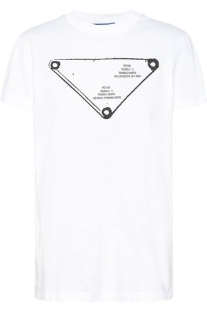 Prada Triangle-logo crew-neck T-shirt
