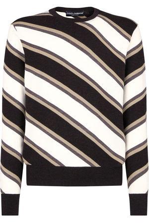 Dolce & Gabbana Men Sweatshirts - Diagonal-stripe jumper