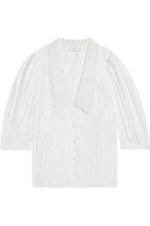 Sandro Lilie Lace Collar Shirt