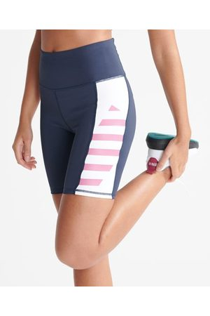 Superdry Women Shorts - Sport Training Lock Up Bike Shorts