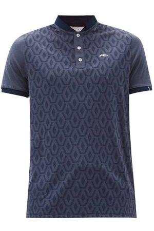 Kjus Lance Geometric-jacquard Jersey Henley T-shirt - Mens - Navy