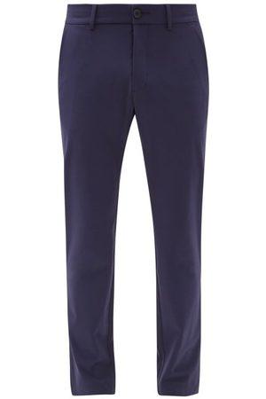 Kjus Men Chinos - Ike Tailored Shell Chino Trousers - Mens - Navy