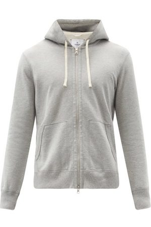 Reigning Champ Zipped Cotton-terry Hooded Sweatshirt - Mens - Grey
