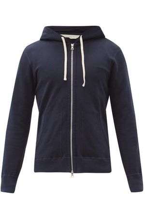 Reigning Champ Men Hoodies - Zipped Cotton-terry Hooded Sweatshirt - Mens - Navy