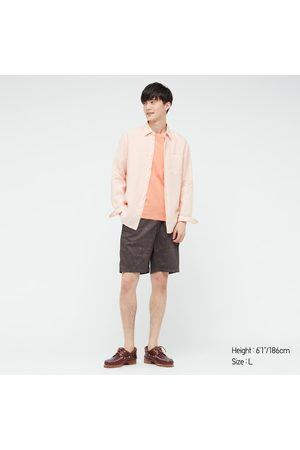 UNIQLO Men Shorts - Men's Dry Stretch Easy Shorts, Brown, S