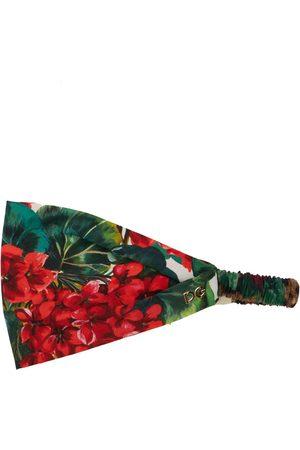 Dolce & Gabbana Printed Cotton Poplin Headband