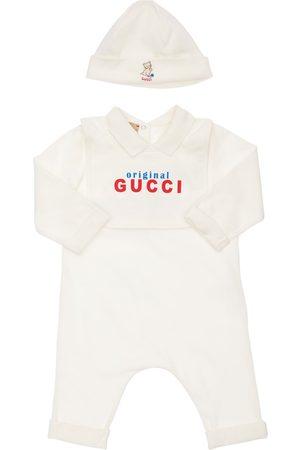 Gucci Girls Hats - Cotton Jersey Romper, Bib & Hat