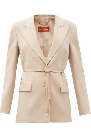 Altuzarra Arbor Pearl-trimmed Linen-blend Jacket - Womens
