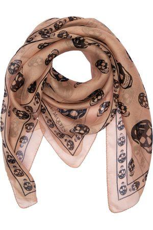 Alexander McQueen Skull Print Silk Chiffon Scarf