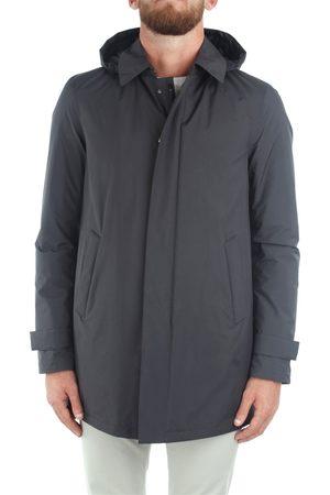 HERNO Raincoats Men Grey Poliestere