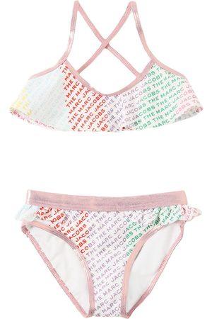 Marc Jacobs All Over Logo Print Bikini Set