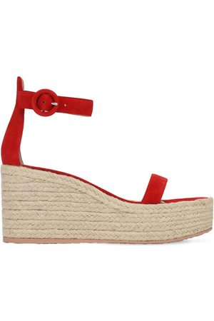 Gianvito Rossi 45mm Suede Espadrille Wedges