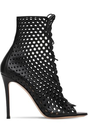 Gianvito Rossi 105mm Leather Lace-up Ankle Boots