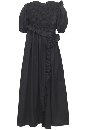Cecilie Bahnsen Chloe Smocked Poplin Midi Dress