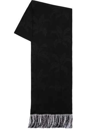Saint Laurent Palms Jacquard Silk Scarf