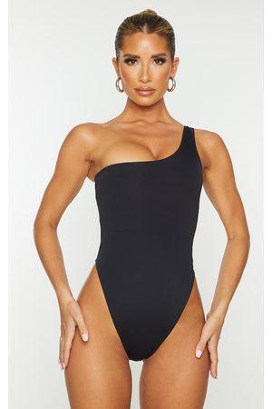 PRETTYLITTLETHING One Shoulder Scuba Swimsuit