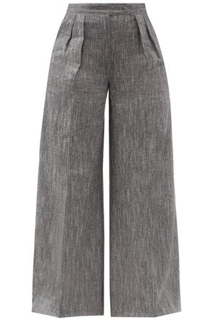 Max Mara Women Wide Leg Pants - Ofanto Trousers - Womens - Grey