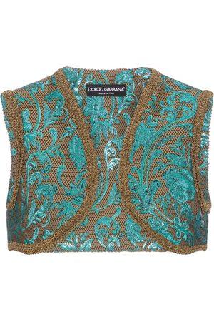 Dolce & Gabbana Floral-brocade vest