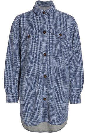 Munthe Women's Tully Houndstooth Shirt - Indigo - Size 10