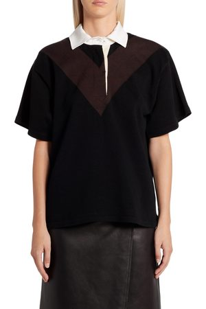 Bottega Veneta Women's Intarsia Rugby Stripe Cotton Shirt