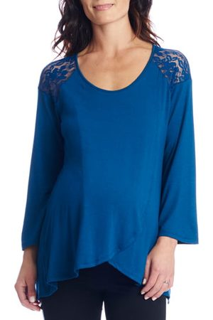 Everly Grey Women's Aaliyah Wrap Front Maternity/nursing Top