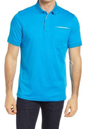 Bugatchi Men's Pima Cotton Short Sleeve Polo Shirt