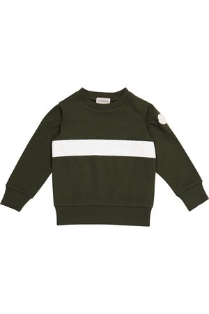 Moncler Boys Hoodies - Logo cotton jersey sweatshirt