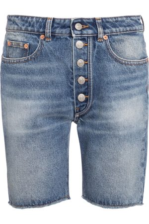 MM6 MAISON MARGIELA Women Shorts - High-rise denim shorts